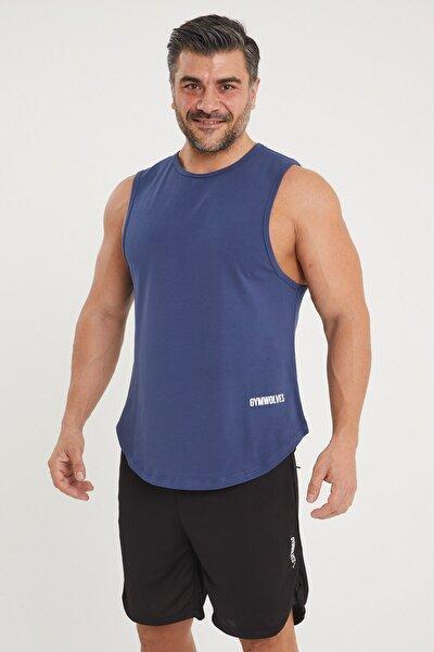 Erkek Kolsuz T-shirt | Indigo | Erkek Spor T-shirt | Workout Tanktop |