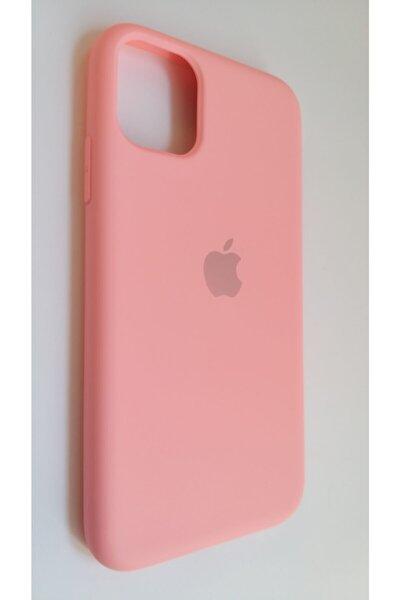 Iphone 11 Toz Pembe Lansman Silikon Kılıf Içi Kadife Logolu