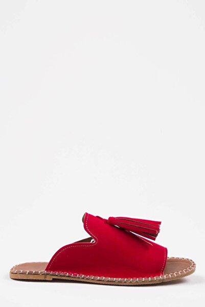 Kadın Kırmızı Süet Terlik 1005-122-0001_1112