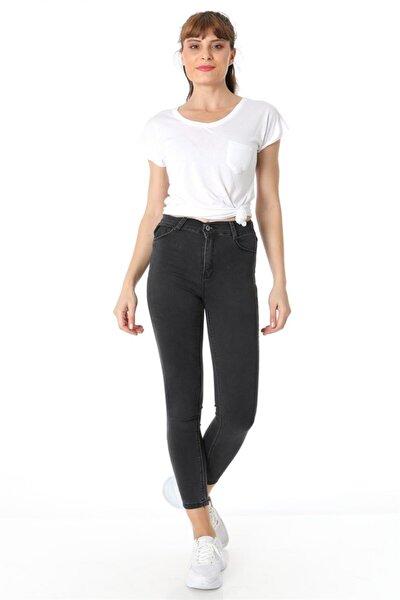 Kadın Füme Beş Cep Klasik Pantolon