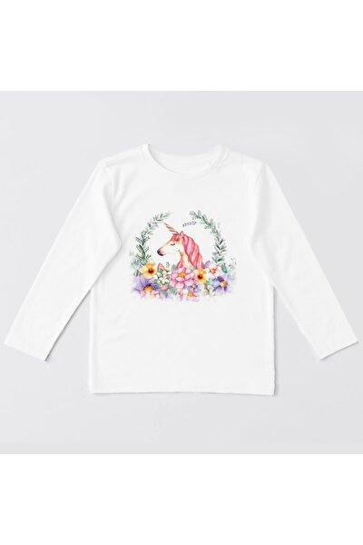 Unicorn Çocuk Baskılı Uzun Kollu T-shirt Sweatshirt-03