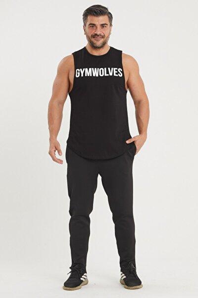 Erkek Siyah Spor Eşofmanı Workout Pants | Power Serisi