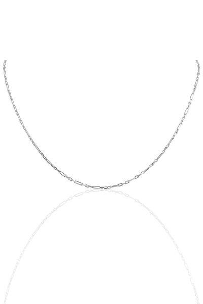 Gümüş 60 Cm Rodyumlu Aralıklı Figaro Zincir Sgtl10101rodaj