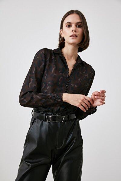 Çok Renkli Gömlek Yaka Bluz TWOAW21BZ1401