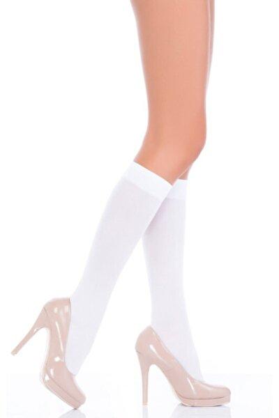 Kadın Beyaz Mikro 40 Pantolon Çorabı 6'lı