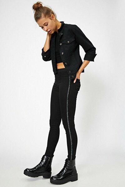 Kadın Siyah Pantolon 0YAK47164MD