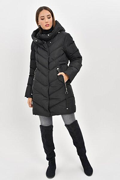 Kadın Siyah Şişme Mont Kışlık 5559 Kb