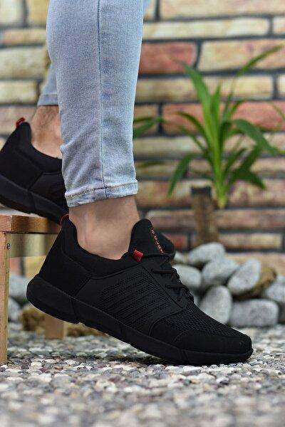 Siyah Kırmızı Erkek Sneaker 0012105