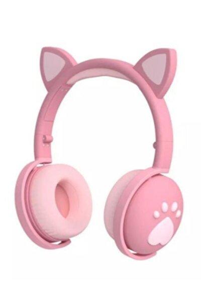 Full Rgb Işıklı Pembe Kedi Kulak Bluetooth 5.0 Wıreless Kulaklık