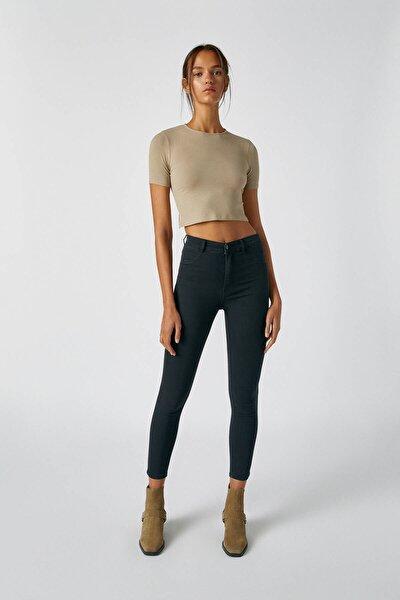 Kadın Siyah Yüksek Bel Skinny Fit Jean 09684309