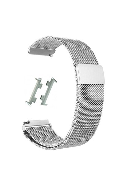 Nihcase Watch 41mm Metal Hasır Kordon Gümüş