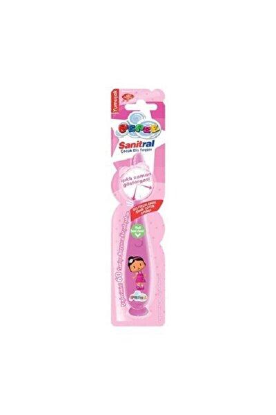 Işıklı Pembe Çocuk  Diş Fırçası