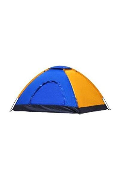 Renkli Dayanıklı Kamp Çadırı 200x200x135 4 Kişilik