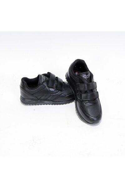 361-g Cırtlı Siyah-siyah Cilt Spor Ayakkabı