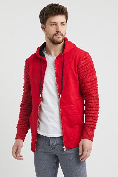 Erkek Kırmızı Modelli Sweatshirt pnyswt001r01