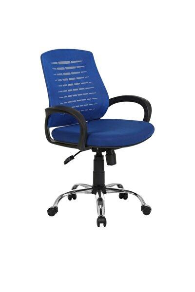 Sers Mavi Bilgisayar Sandalyesi-ofis Büro Koltuğu