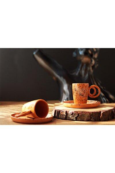 Benekli Tasarım 2 Li Seramik Kahve Fincanı