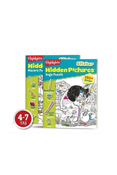 Sticker Hidden Pictures 2 Li Set Gizli Resimler Eğlenceli Etkinlik Kitabı