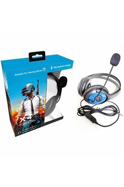 Kulak Üstü Gaming Oyuncu Mikrofonlu Kulaklık Profesyonel Kulaklık Yumuşak Ped Laptop Ps4 Eba