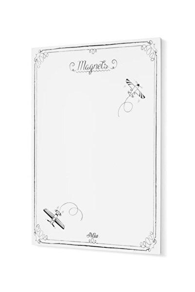 Magnet Panosu Beyaz - 70 X 50 Cm