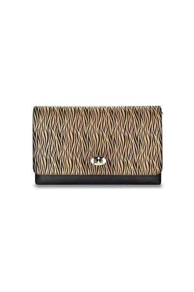 Kadın Kahverengi Zebra El Çantası 19g3u13n830