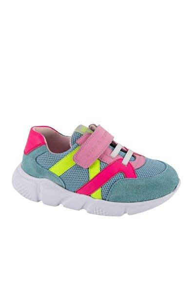 Kız Çocuk Açık Mavi Stranger Cırtlı ve Lastikli Sneaker