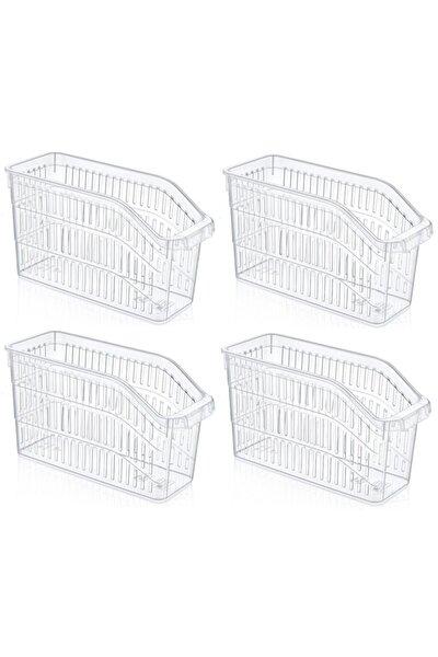 Buzdolabı Sepeti Dolap Içi Düzenleyici Sepet Organizer Şeffaf 4 Adet 30x17x16