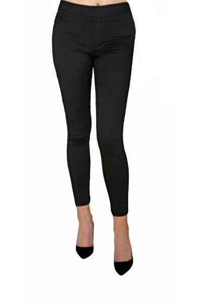 Kadın Siyah Likralı Pantolon Tayt