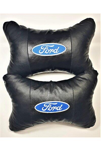 Ford Papyon Yastık - Boyun Yastığı - Deri Yastık Ford Logolu