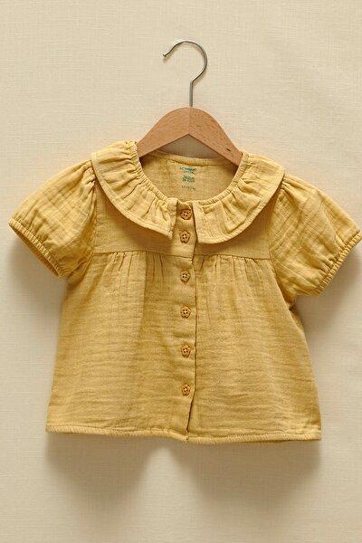 Kız Bebek Mat Sarı G0Y Gömlek