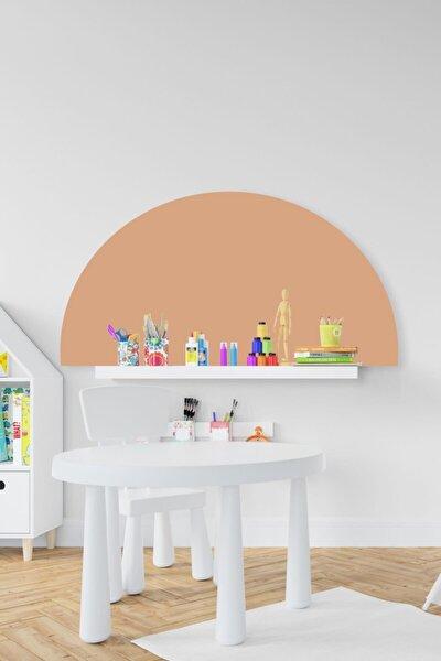 Bohem Somon Rengi Yarım Daire Çocuk Bebek Odası Sticker (50x100 Cm)