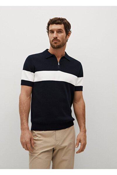 Erkek Yakası Fermuarlı Örgü Polo Gömlek