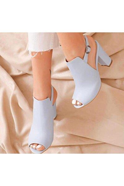 Kadın Bebe Mavi Topuklu Ayakkabı