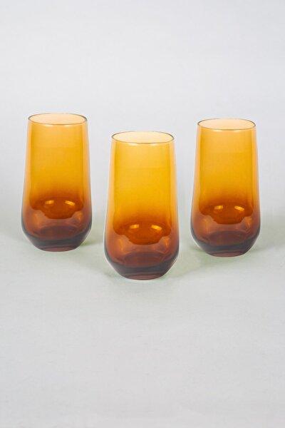 New Iconic 3'lü Meşrubat Bardağı Seti Amber 470 cc