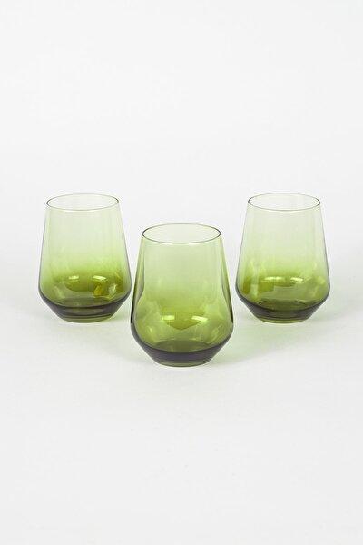 Yeşil  Su Bardağı Seti 425 cc 3'lü