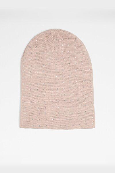 Kadın Pembe Şapka & Şal & Eldiven