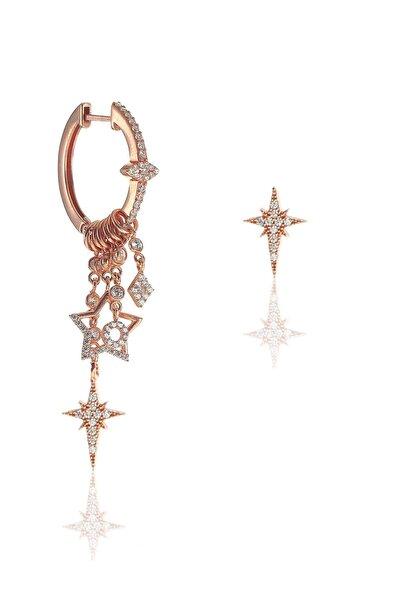 Gümüş Kutup Yıldızı Modeli Şans Küpe