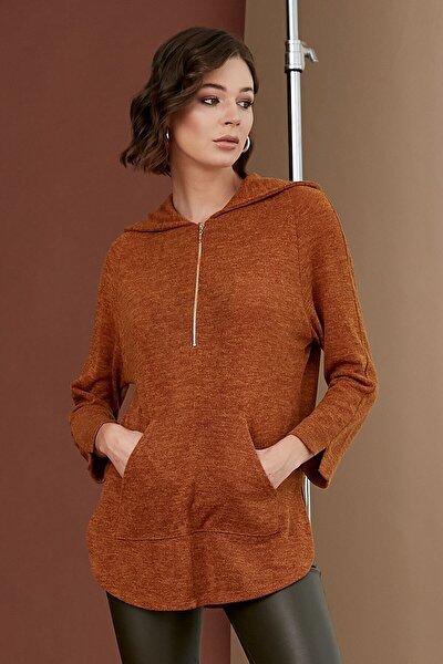 Kadın Koyu Hardal Bluz 19KBLZ496