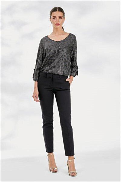 Kadın Siyah Pantolon 19kpnt468