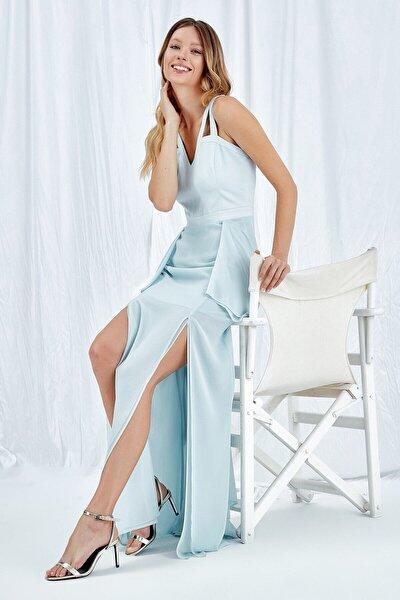 Kadın Açık Mavi Elbise 19YELB258