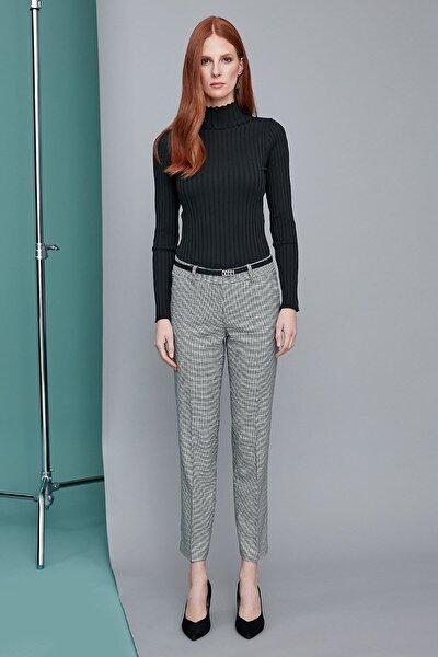 Kadın Haki/Siyah Piedepul Pantolon 19KPNT468
