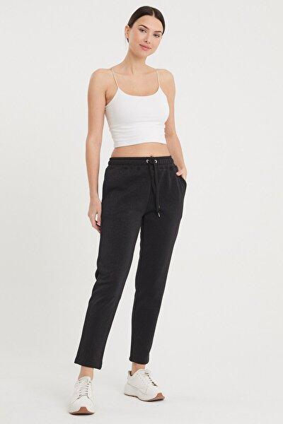 Kadın Siyah Larıssa Simli Joggıng Pantolon