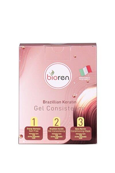 Brezilya Fönü Saç Düzleştirici Set Jel Keratin Seti 3x100 Ml %100