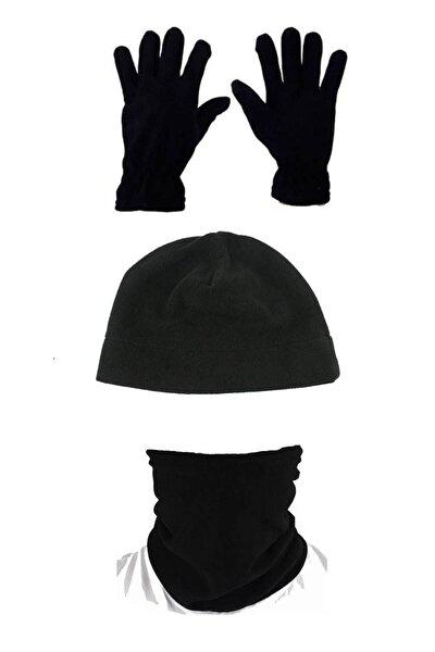 Siyah Kışlık Polar Boyunluk 3'lü Set
