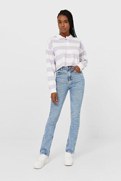 Kadın Mavi Straight Fit Vintage Jean 08505533