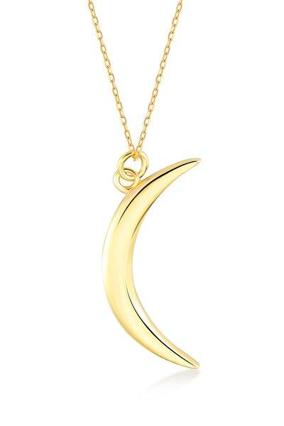 Kadın Altın 14 Ayar  Yarım Ay Kolye