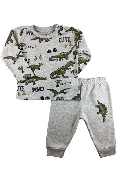 Bebek Gri Renk Dinosaur Friends 2'li Takım
