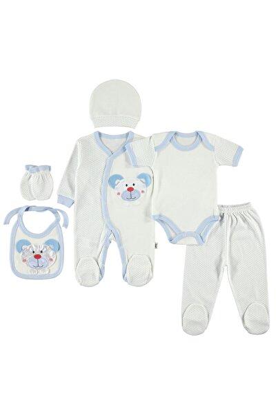 Yenidoğan Bebek Mavi 6'lı Zıbın Seti