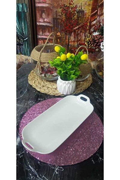Arow Porselen Oval Kulplu 31x14 Sunum Ve Servis Tabağı
