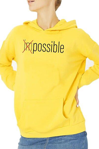 Kadın Sarı Impossible Sweatshırt